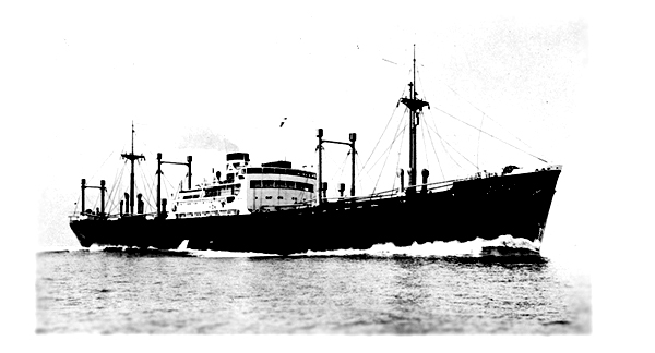 High-speed cargo boat of Kokusai Kisen K.K.   Photograph of the wonderful time of Komaki Maru in 1933.
